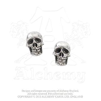Alchemy Gothic Mortuarium Skull Earrings