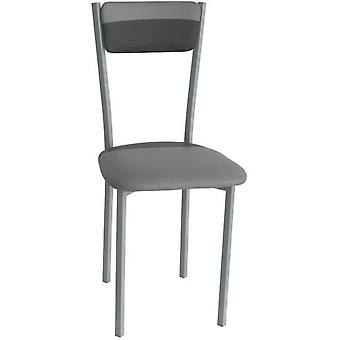 SZ Suárez Sarin chair upholstered seat and Grey / Negro.400X450X890Mm