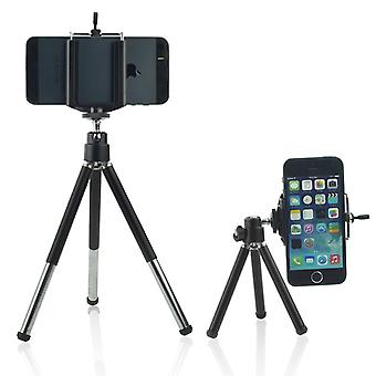 ONX3 (Tripod Phone Holder) Apple iPhone 7 Plus Adjustable Mini 360 Rotatable Tripod Stand with Phone Clip Holder