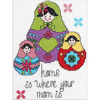 My 1st Stitch Home Is Where Mini Counted Cross Stitch Kit-5