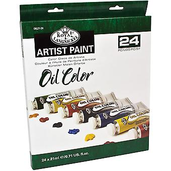 Oil Paints 21ml 24/Pkg-Assorted Colors OIL21-24