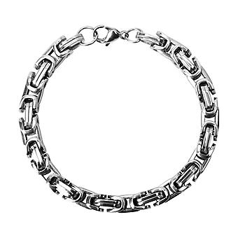 Men stainless steel bracelet in the Byzantine style