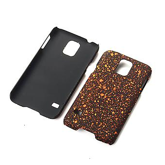 Cell phone cover case bumper shell for Samsung Galaxy S5 / S5 neo 3D star Orange