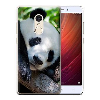 STUFF4 Case/Cover for Xiaomi Redmi Note 4/Panda Bear/Wildlife Animals