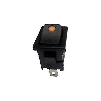 Toggle switch 250 Vac 6 A 1 x Off/On SCI R13-66B2-02 YELLOW (250V/AC 150KR) latch 1 pc(s)