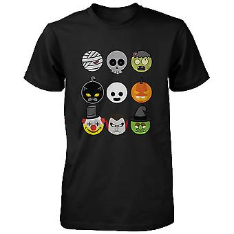 Halloween Monsters Men's Shirt Humorous Graphic Tee for Haunt Night Funny Shirt