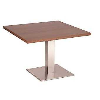 Daniella 50 Cm Small Square Coffee Table With Brushed Stainless Steel Base