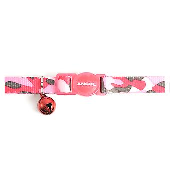 Safety Buckle Cat Collar Camoflage Pink (Pack of 3)
