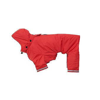 Buster Aqua Rain Coat Red Large