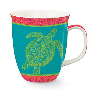 Coastal Clear Sea Turtle Bone China 16 Ounces Coffee Latte Tea Harbor Mug