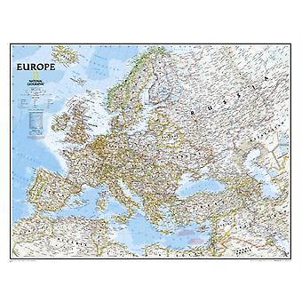 Europe Classic tubed Wall Maps Continents: NG.PC620070 (Reference - Continents) (Map) by National Geographic Maps