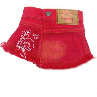 Freedog Denim skirt Red T-1 (Dogs , Dog Clothes , Dresses)