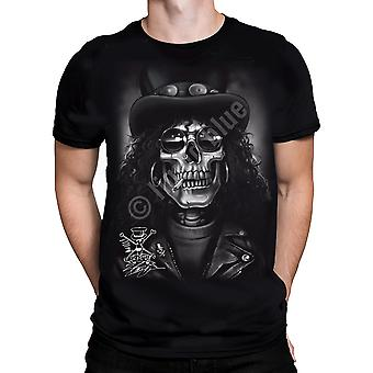 Slash Skull  Short Sleeve Tshirt