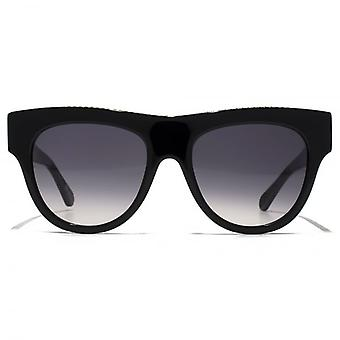 Stella McCartney Falabella Bold Falabella Brow Detail Sunglasses In Black