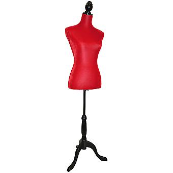 Velvet - Mannequin / Decorative naaisters Dummy - Rood / Zwart