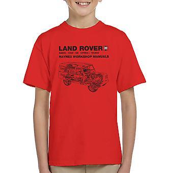 Haynes Workshop manuell Land Rover svart Kids t-skjorte