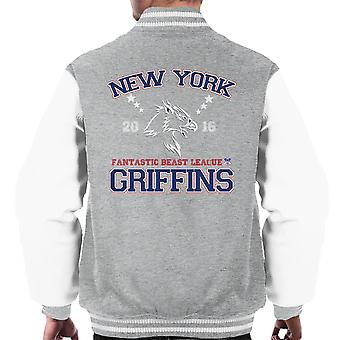 Phantastische Tierwesen League New York greifen Männer Varsity Jacket
