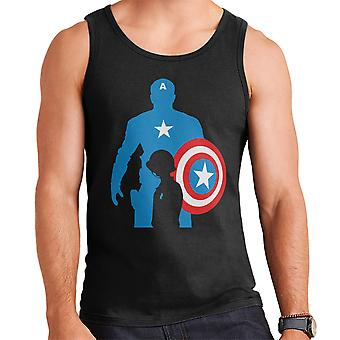 Captain America Silhouette Men's Vest