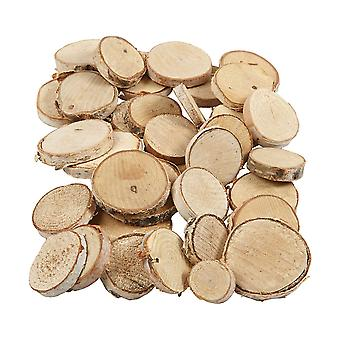 Natural Wood Discs with Bark for Floristry & Adult Crafts - 25mm to 45mm