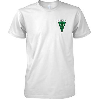 Con licenza MOD - Royal Marines 40 Commando - 3 Cdo brigata Insignia - Mens petto Design t-shirt