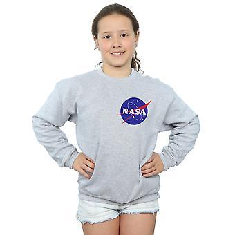 NASA Girls Classic Insignia Chest Logo Sweatshirt