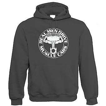 Vectorbomb, Real Men Drive Muscle Cars, Mens Hoodie (S to 5XL)