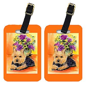 Carolines Treasures  SS8297BT Pair of 2 Norwich Terrier Luggage Tags