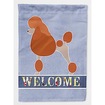 Carolines Treasures  BB8311CHF Royal Poodle Welcome Flag Canvas House Size