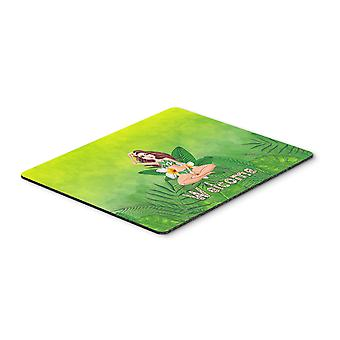 Welcome Lady in Bikini Summer Mouse Pad, Hot Pad or Trivet