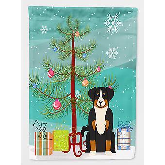 Merry Christmas Tree Appenzeller Sennenhund flagg lerret huset størrelse