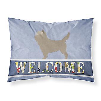 Taie d'oreiller Standard du tissu Bienvenue Cairn Terrier