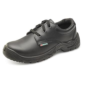 Click Dual Density Smooth Leather Safety Shoe Black. S1 Src - Cddsts