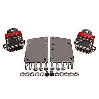 Energy Suspension 3.1147R GM LS Series Motor Mount Conversion Kit Red Incl. PN[3.1115] Short And Wide Mount 2 5/8x1.75 i