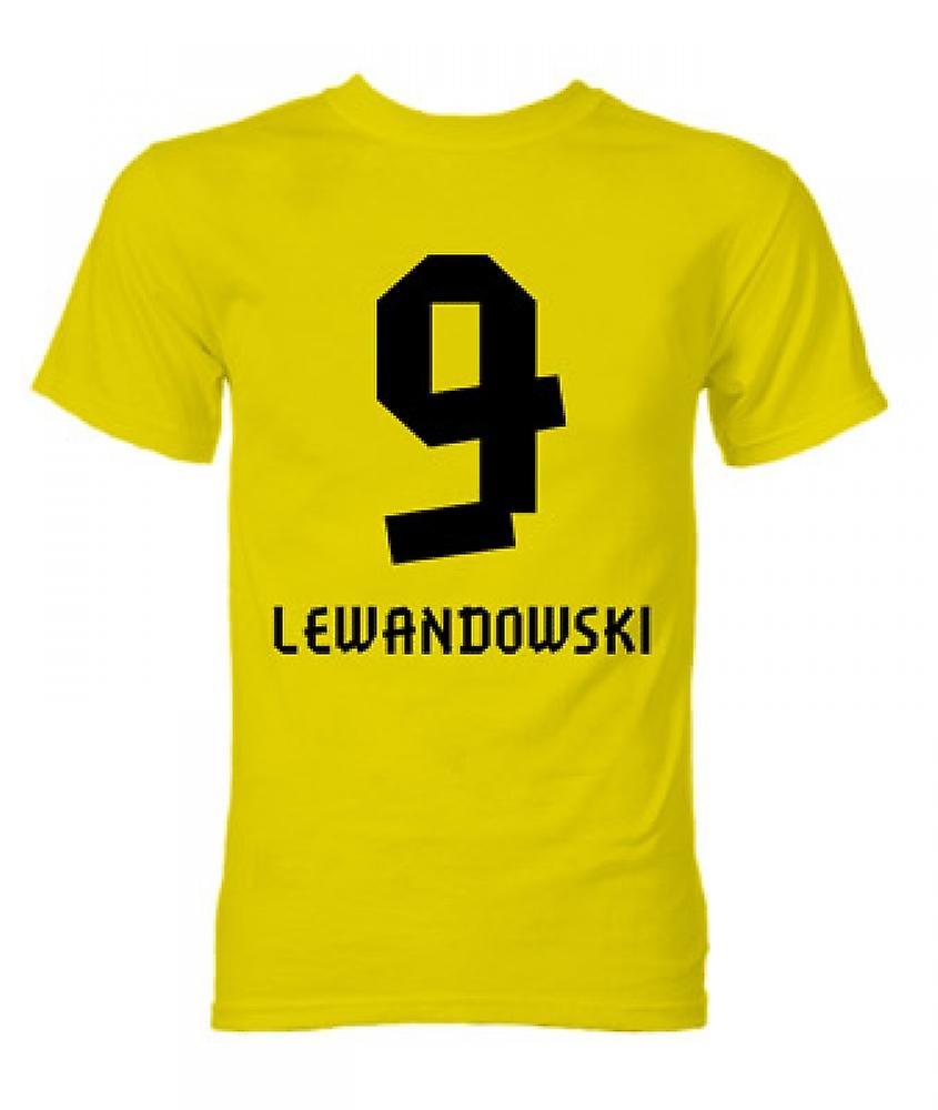 Robert Lewandowski Borussia Dortmund Held T-Shirt (gelb)