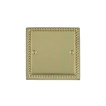 Hamilton Litestat Cheriton Georgian Polished Brass Single Blank Plate
