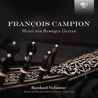 Campion / Hofstotter - muziek voor barok gitaar [CD] USA import