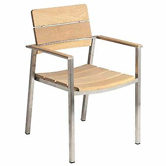 Alexander Rose Cologne Stacking Armchair with Roble Slats