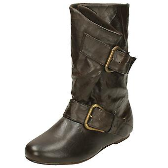 Ladies Spot On Pull On Short Boots F4260