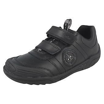 Школа для мальчиков Clarks обувь крыло смарт