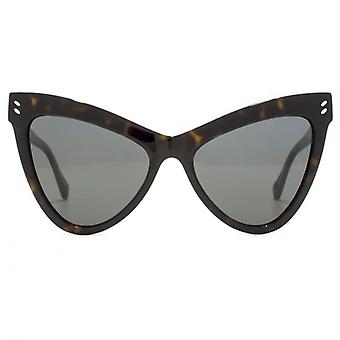 Stella McCartney Essentials Extreme Cateye Sunglasses In Havana