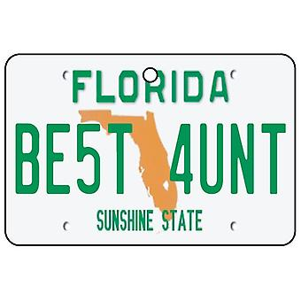 Florida - Best Aunt License Plate Car Air Freshener