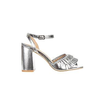 Truffle Collection Open Toe Sandal With Ruffle Detail