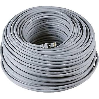 RJ49 Networks Cable CAT 6A S/FTP 50 m Grey UL-approved, Flame-retardant, incl. detent EFB Elektronik