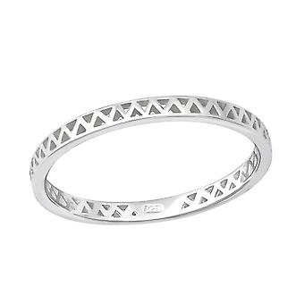 Zig Zag - 925 Sterling Silver Plain Rings