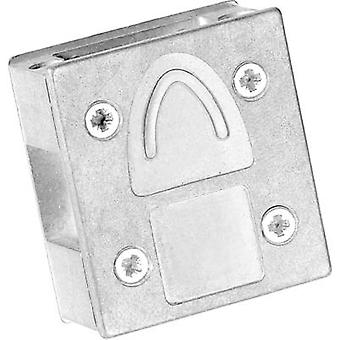 D-SUB adapter housing Number of pins: 9 Metal 90 °, 90 ° Silver