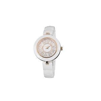 Керамические часы и белый кристалл