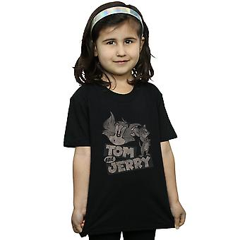 Tom and Jerry Girls Cartoon Wink T-Shirt