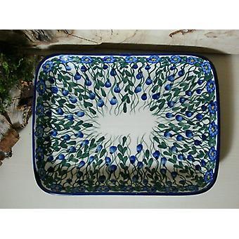 Dish / casserole, 19 x 24 x 4 cm, 44 - boleslawiec aardewerk - BSN 6595