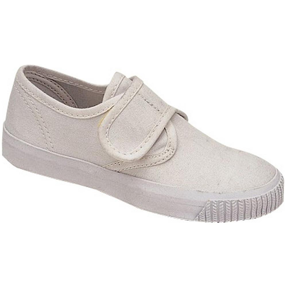 Mirak Girls 99248 Fastening Plimsoll Sneaker Trainer White (Med)