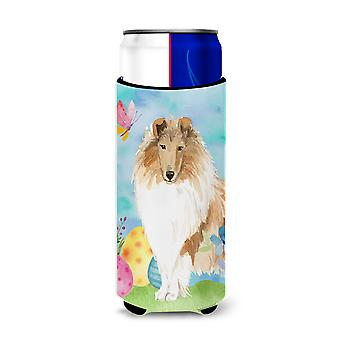 Easter Eggs Rough Collie Michelob Ultra Hugger for slim cans